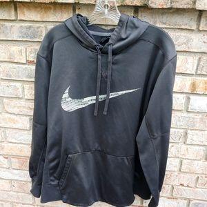 Sharp! Nike Dri-Fit Graphite Swoosh Logo Hoodie L